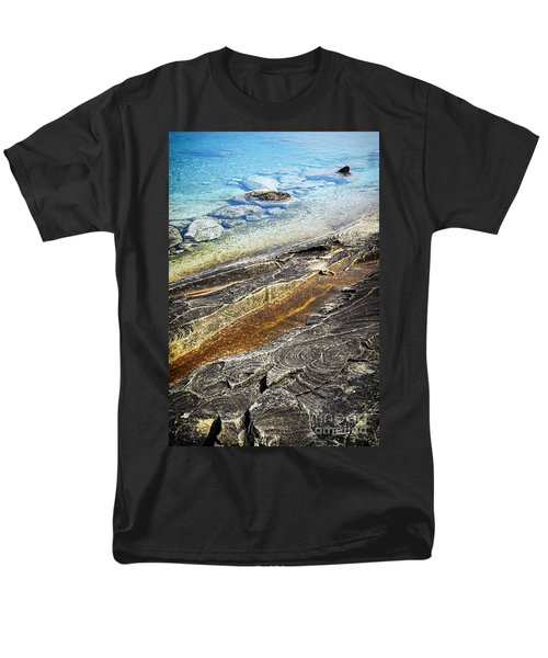 Rocks and clear water abstract T-Shirt by Elena Elisseeva