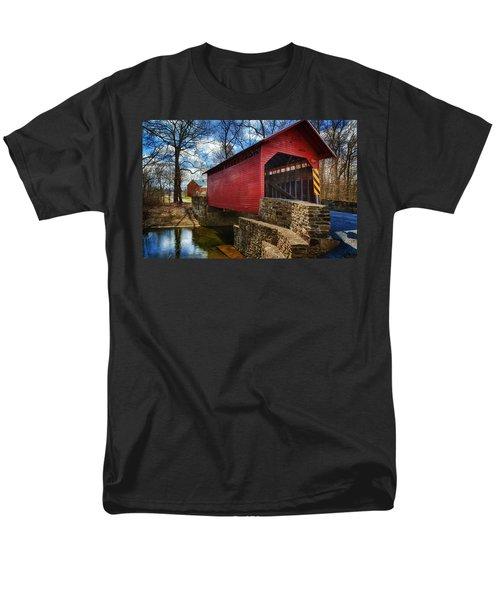 Roddy Road Covered Bridge T-Shirt by Joan Carroll