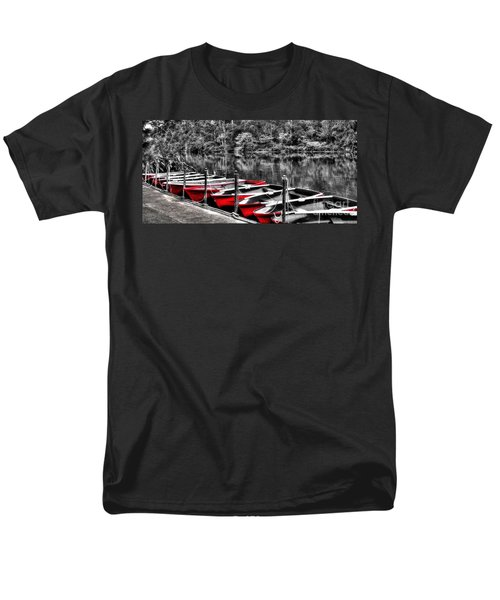 Row of Red Rowing Boats T-Shirt by Kaye Menner