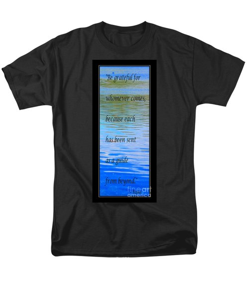 Rumi Quote 2 - Grateful - Guide T-Shirt by Barbara Griffin