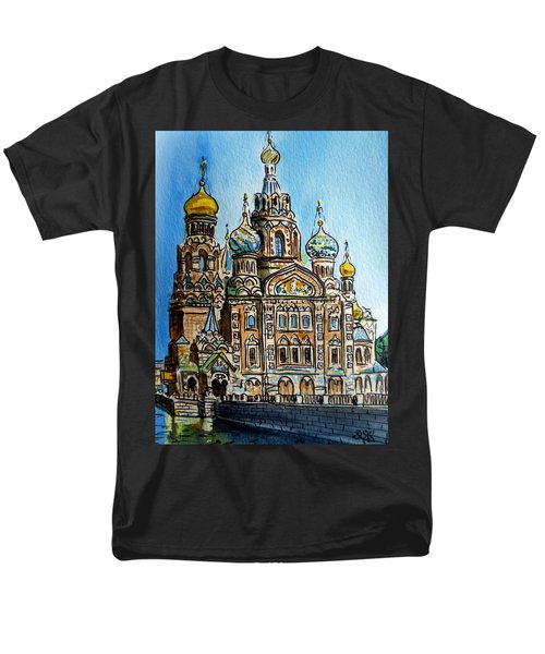 Saint Petersburg Russia The Church of Our Savior on the Spilled Blood T-Shirt by Irina Sztukowski