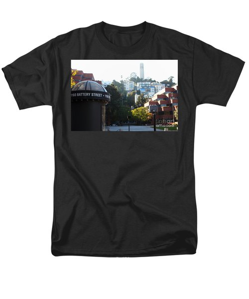 San Francisco Coit Tower At Levis Plaza 5D26212 T-Shirt by Wingsdomain Art and Photography