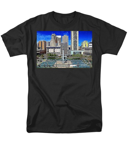 San Francisco Union Square 5D17938 Artwork T-Shirt by Wingsdomain Art and Photography