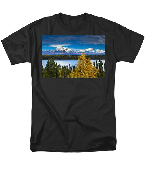Scenic View Of Mt. Sanford L And Mt T-Shirt by Sunny Awazuhara- Reed