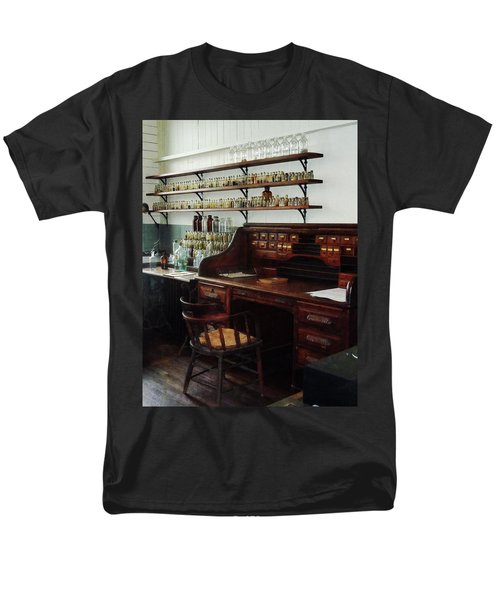 Scientist - Office in Chemistry Lab T-Shirt by Susan Savad