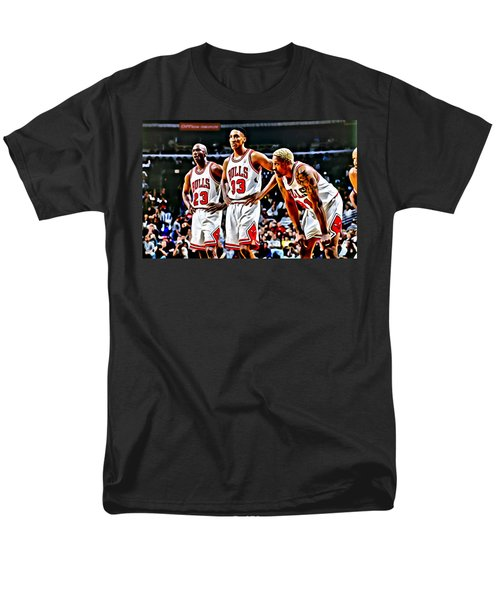 Scottie Pippen with Michael Jordan and Dennis Rodman T-Shirt by Florian Rodarte