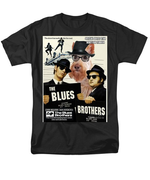 Scottish Terrier Art Canvas Print - The Blues Brothers Movie Poster T-Shirt by Sandra Sij
