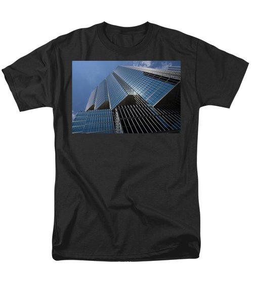 Silver Lines to the Sky - Downtown Toronto Skyscraper T-Shirt by Georgia Mizuleva
