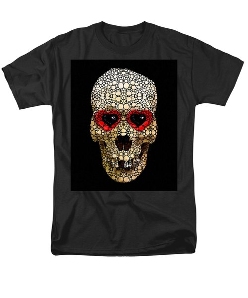 Skull Art - Day Of The Dead 3 Stone Rock'd T-Shirt by Sharon Cummings