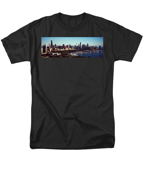 Skyscrapers At The Waterfront, Hancock Men's T-Shirt  (Regular Fit) by Panoramic Images