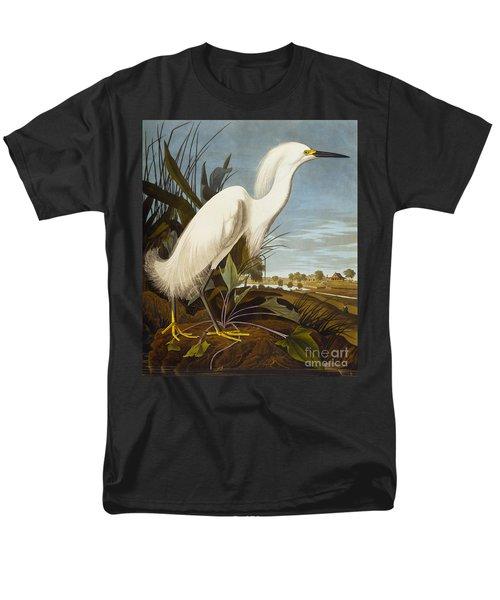 Snowy Heron Or White Egret Men's T-Shirt  (Regular Fit) by John James Audubon