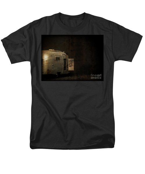Spooky Airstream Campsite T-Shirt by Edward Fielding