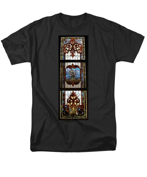 Stained Glass 3 Panel Vertical Composite 04 T-Shirt by Thomas Woolworth