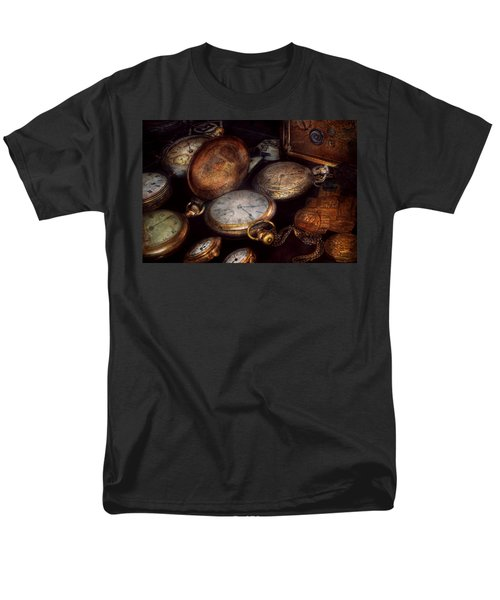 Steampunk - Clock - Time worn T-Shirt by Mike Savad