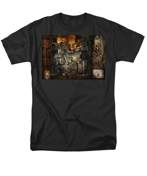 Steampunk - The Turret Computer  T-Shirt by Mike Savad