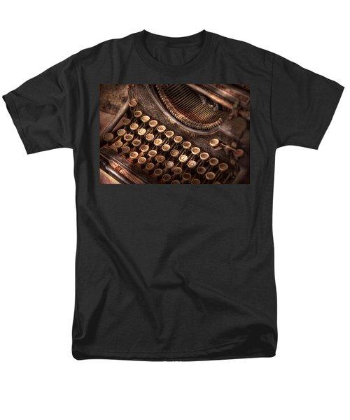 Steampunk - Typewriter - Too tuckered to type T-Shirt by Mike Savad