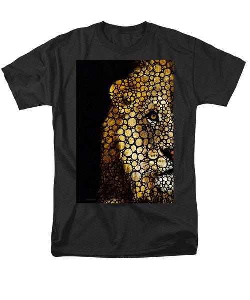 Stone Rock'd Lion - Sharon Cummings T-Shirt by Sharon Cummings
