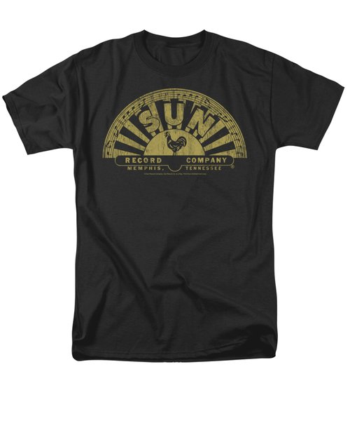 Sun - Tattered Logo Men's T-Shirt  (Regular Fit) by Brand A