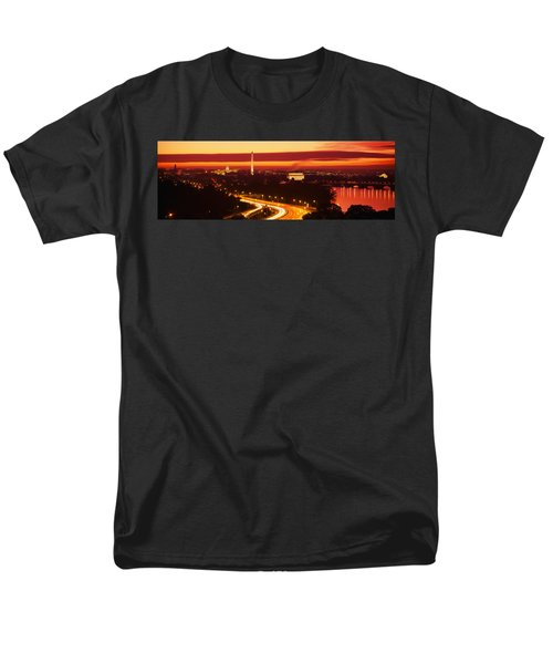 Sunset, Aerial, Washington Dc, District Men's T-Shirt  (Regular Fit) by Panoramic Images