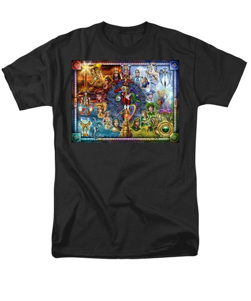 Tarot Of Dreams Men's T-Shirt  (Regular Fit) by Ciro Marchetti