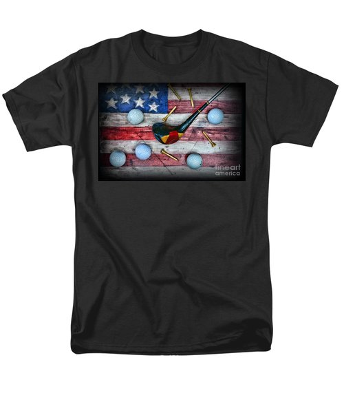 The All American Golfer Men's T-Shirt  (Regular Fit) by Paul Ward