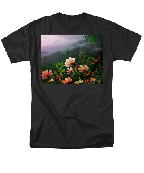 The Brighter Side Of The Dark Mountains T-Shirt by Bedros Awak