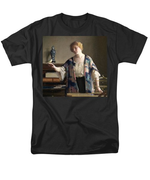 The Canary Men's T-Shirt  (Regular Fit) by William McGregor Paxson