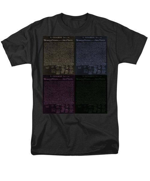 THE DECLARATION OF INDEPENDENCE in NEGATIVE COLORS T-Shirt by ROB HANS