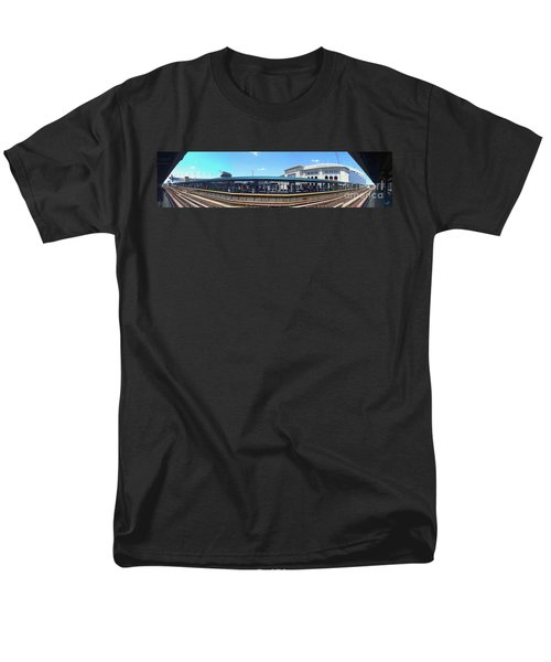 The Old And New Yankee Stadiums Panorama Men's T-Shirt  (Regular Fit) by Nishanth Gopinathan