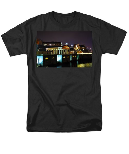 The Waterworks at Night T-Shirt by Bill Cannon