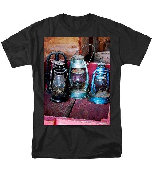 Three Kerosene Lamps T-Shirt by Susan Savad