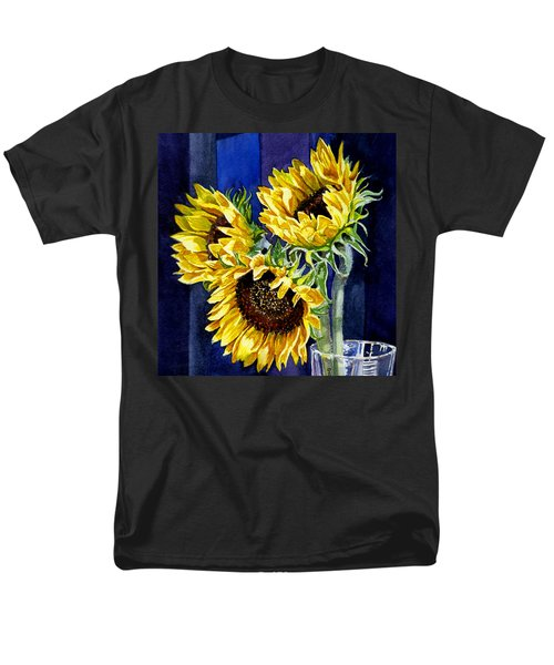 Three Sunny Flowers T-Shirt by Irina Sztukowski
