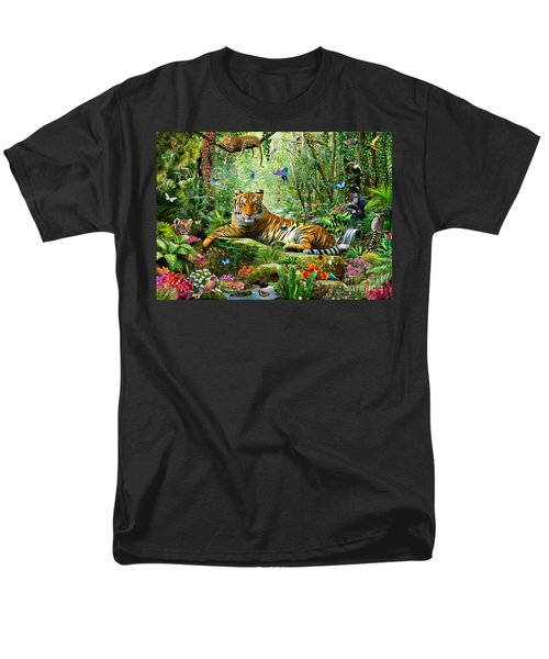Tiger In The Jungle T-Shirt by Adrian Chesterman