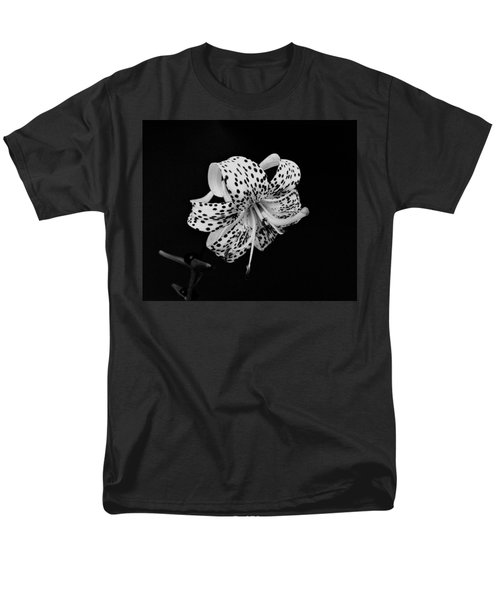 Tiger Lily in Black and White T-Shirt by Sandy Keeton