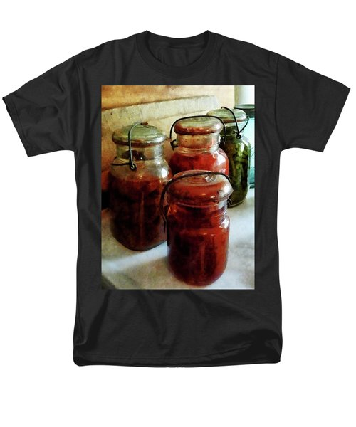 Tomatoes and String Beans in Canning Jars T-Shirt by Susan Savad