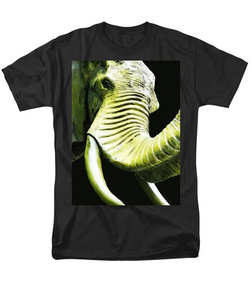 Tusk 1 - Dramatic Elephant Head Shot Art T-Shirt by Sharon Cummings