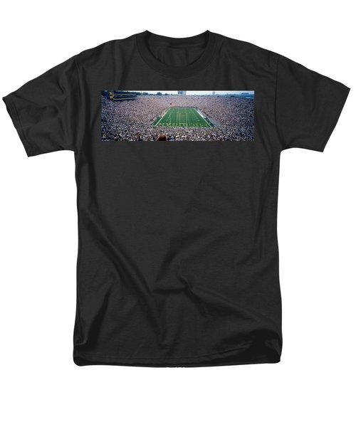 University Of Michigan Football Game Men's T-Shirt  (Regular Fit) by Panoramic Images