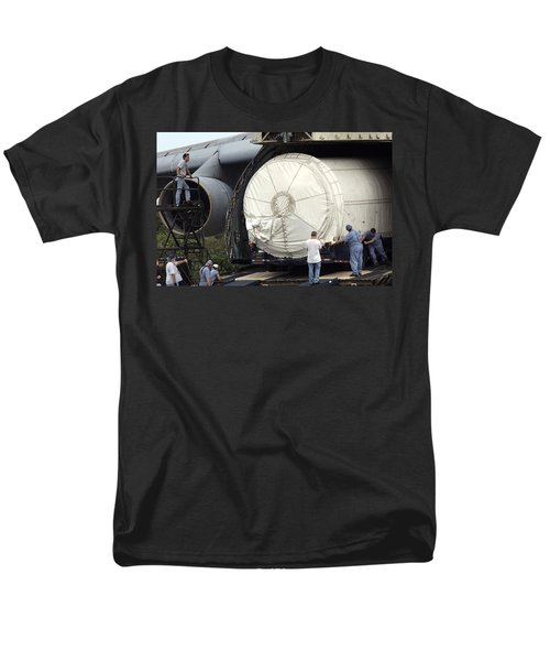 Men's T-Shirt  (Regular Fit) featuring the photograph Unloading A Titan Ivb Rocket by Science Source