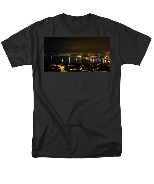 Valparaiso Harbor at Night T-Shirt by Kurt Van Wagner