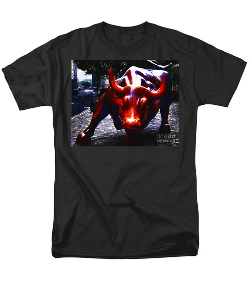 Wall Street Bull - Painterly T-Shirt by Wingsdomain Art and Photography