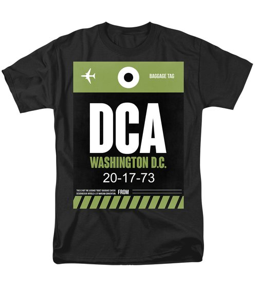 Washington D.c. Airport Poster 2 Men's T-Shirt  (Regular Fit) by Naxart Studio