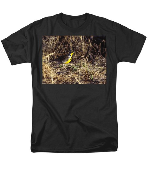 Western Meadowlark Men's T-Shirt  (Regular Fit) by Steven Ralser