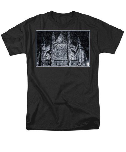 Westminster Abbey North Transept Men's T-Shirt  (Regular Fit) by Joan Carroll