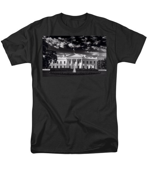 White House Sunrise B W Men's T-Shirt  (Regular Fit) by Steve Gadomski