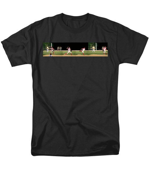 Wind Up And Delivery 4 Panel Composite Digital Art T-Shirt by Thomas Woolworth