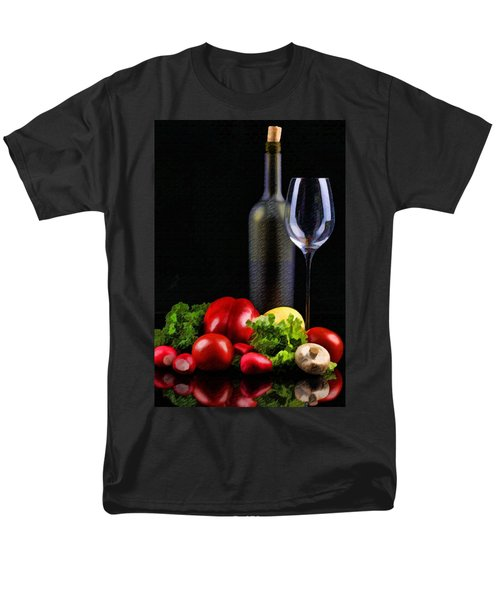 Wine for a Salad T-Shirt by Elaine Plesser