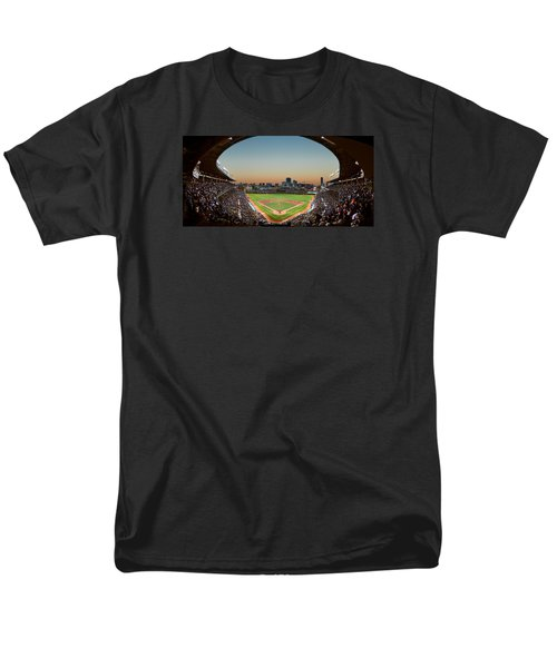 Wrigley Field Night Game Chicago Men's T-Shirt  (Regular Fit) by Steve Gadomski
