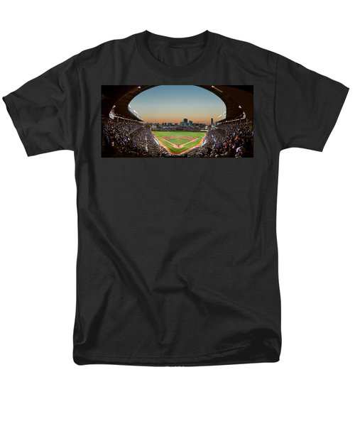 Wrigley Field Night Game Chicago T-Shirt by Steve Gadomski