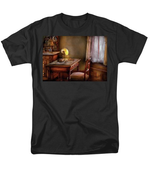 Writer - Desk of an Inventor T-Shirt by Mike Savad