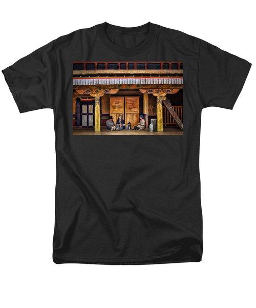 Yak Butter Tea Break At The Potala Palace Men's T-Shirt  (Regular Fit) by Joan Carroll